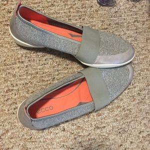 Gray Ecco slip on shoes